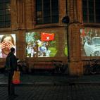 Martin & Inge Riebeek projectie op 3 vakken van de Grote Kerk